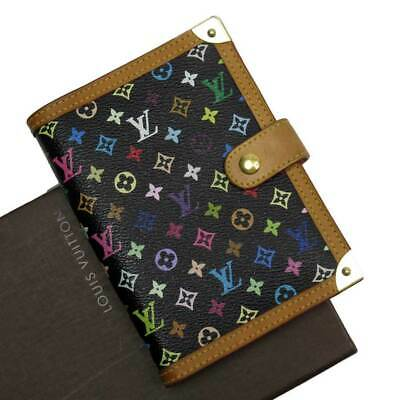 Auth Louis Vuitton Monogram Multicolor Agenda PM Agenda Cover R20895 - h23264