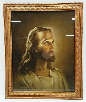 5x7 print Jesus /& Young Man on Boat in Storm Warner Sallman CHRIST OUR PILOT
