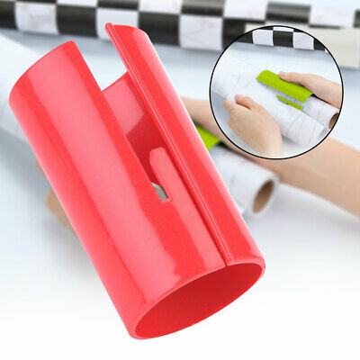 Red Durable Plastic Safety Sliding Wrapping Paper Cutter Craft Cutting Tool