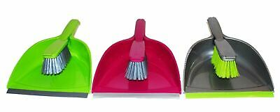 Assorted Colour Plastic Dustpan & Brush Plastic Home Cleaning Scrapper Sweeper