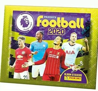 New sealed 10 Packets Panini FOOTBALL 2020 Premier League Stickers.