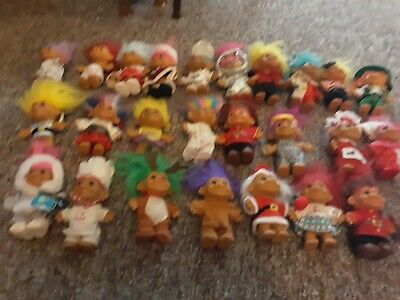 Vintage Troll lot of 25 Easter Christmas Thanksgiving St.Pattys Cook etc