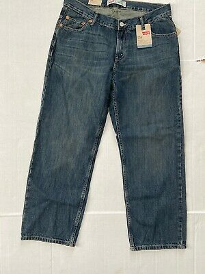 NEW $42 Levis 550 Mens Size 33 X 28 Relaxed Fit Jeans Med Wash  14 Husky(boys)