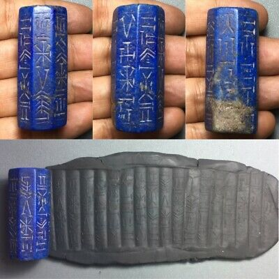 Master piece Ancient Sassanian cylinder seal inscription seal