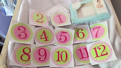 Pearhead girls 0 - 12 Months Milestone Stickers