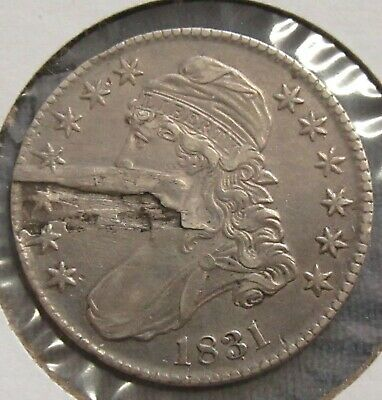 1831 Capped Bust Half Dollar Laminated Planchet