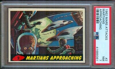 1962 Mars Attacks #2 Martians Approaching Psa 7 Very Sharp! Tough!