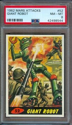 1962 Mars Attacks #52 Giant Robot Psa 8 Lower Pop!