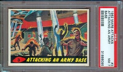 1962 Mars Attacks #3 Attacking An Army Base Psa 7