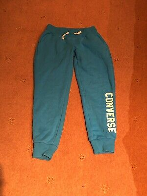 Converse Blue Turqouise Joggers Bottoms Trousers Age 10-12 Years