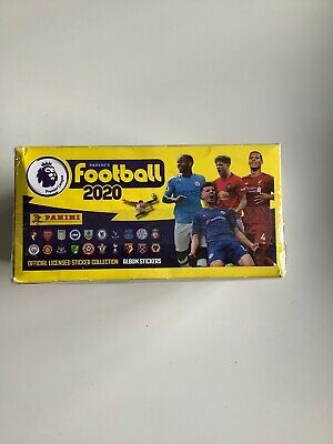 FULL BOX 100 packets of Football 2020 Stickers Premier League PANINI Sealed.