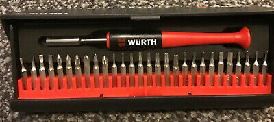 Wurth 29 Piece precison screwdriver Bit Set. Ideal For Phone Watch Repairs . NEW