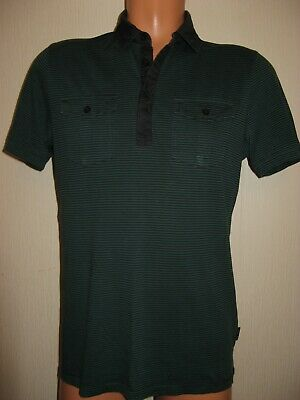 Worn Once Boys Mens Striped Ted Baker Short Sleeve Polo T-Shirt Top Age 14-15-16