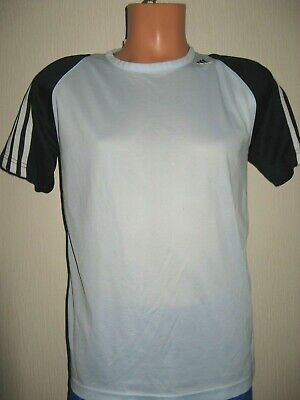 Worn Once Boys Pale Blue Adidas Climalite Short Sleeve Sports T-Shirt Age 13-14