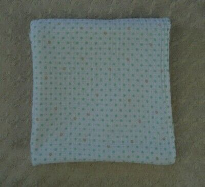Aden + Anais Green Polka Dot Gray Swirl Baby Blanket Muslin Cotton Swaddle