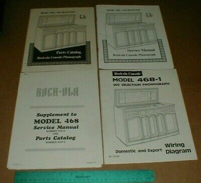4 VTG Rock-ola Console Phonograph Parts Catalog Service Manual Wiring Supplement