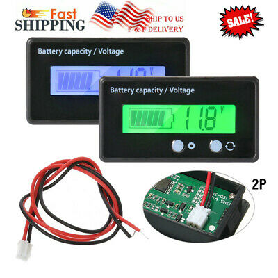 12-48V LCD Acid Lead Lithium Battery Capacity Indicator Voltage Tester Voltmeter