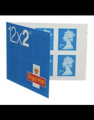 120 Royal Mail 2nd class Book of 12 Letter Stamps. (12x10)