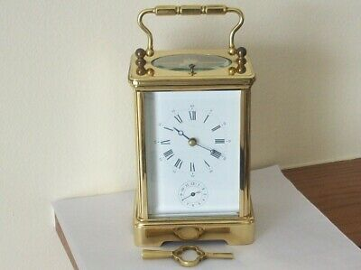Vintage Brass French  L'epee Repeater Striker Alarm 8 Day Carriage Clock Mint