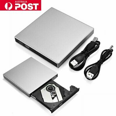 USB 3.0 Slim Portable External DVD-RW CD-RW Combo Drive Burner Reader Player New