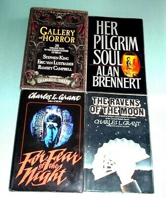 HORROR LOT~ GALLERY of HORROR + 3 ~ STEPHEN KING ~ CHARLES L.GRANT ~ EX.COND