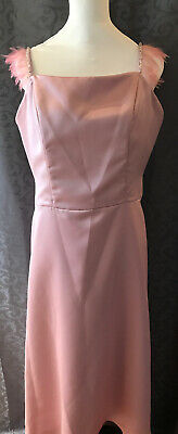 Unique Prom / Bridesmaids Dress With Feathers Pink size 14