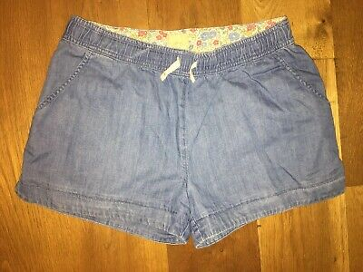 Mini Boden Girls Blue Denim Heart Pocket Shorts Age 15 years Excellent Condition