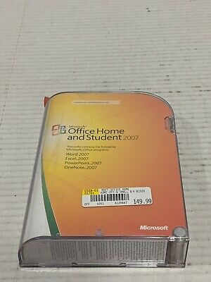 Microsoft OFFICE HOME and STUDENT 2007- with PRODUCT KEY Free Shipping!