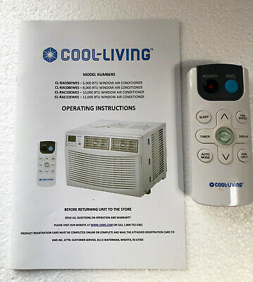 Remote Control For Cool-Living Window Room Air Conditioner with Manual