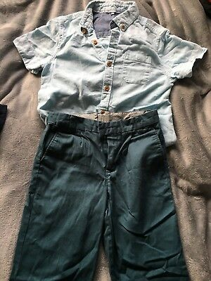 Marks & Spencer Boys Size 9-10 Year Shirt & Trousers