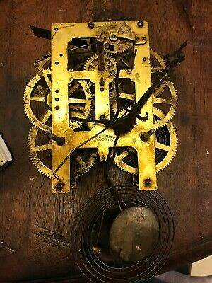 Antique Waterbury Clock Movement, Hands, Pendalum and Gong