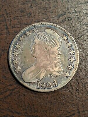 1823 Capped Bust Half Dollar Ch Almost XF, beautiful toning!!