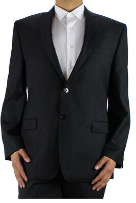 Calvin Klein Black Herringbone Jacket 42R  MSRP: $400