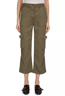 The Kooples Women's Loose Khaki Trouser Pants With Pockets Cargo Sz Large