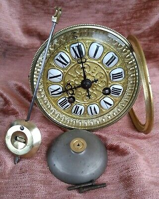 beautiful and rare french clock movement for a mantel clock