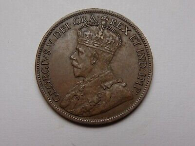 1917 Canada George V Bronze Large Cent Au Super Nice! Must See!!