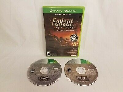 Microsoft Xbox One/360 Fallout New Vegas Ultimate Edition Game Game Discs w/Box