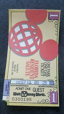 Walt Disney World FLORIDA Resident Salute Ticket 1992 one park one day