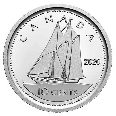 Canada 2020 10 Cents 99.99% Proof Silver Dime Heavy Cameo Coin
