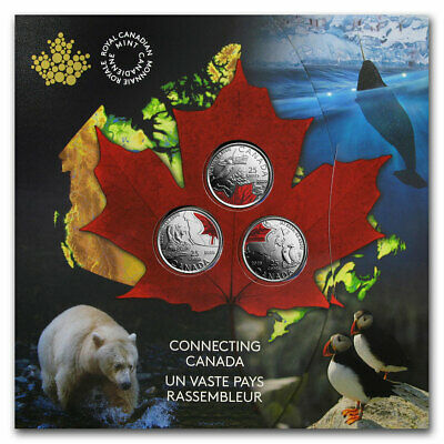 2020 25-Cent Connecting Canada 3-Coin Set - SKU#208022