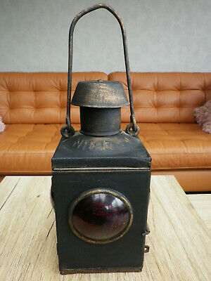 Lampe ancienne cheminot, chantier Nisoln