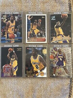 MINT Kobe Bryant NBA Rookie Card Lot! 8 Rookie Cards!  12 Cards Total!  MINT