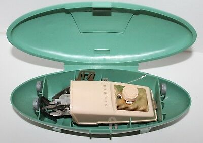 Vintage Singer Buttonholer Attachment Button Hole Maker Green Mid Century