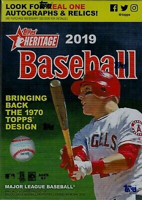 2019 Topps Heritage Baseball Factory Sealed Blaster Box Possible Autos Jerseys