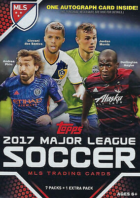 2017 Topps MLS Soccer Unopened Factory Blaster Box One GUARANTEED Autograph Card