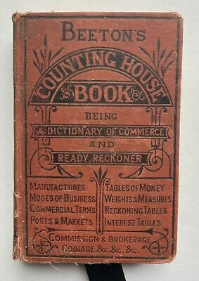 Beeton's Counting House Book  HB very old no date a mrs beeton book
