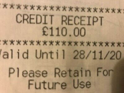 M&S Marks And Spencer Credit Receipt / Voucher Worth £110 Valid Until 28/11/20
