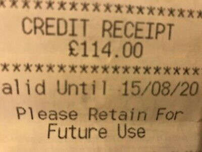 M&S Marks And Spencer Credit Receipt / Voucher Worth £114 Valid Until 15/08/20