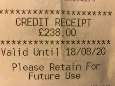 M&S Marks And Spencer Credit Receipt / Voucher Worth £238 Valid Until 18.08.20
