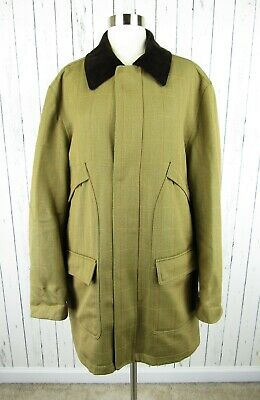 Brooks Brothers Outerwear English Wool Plaid James Crowther Car Field Coat Large
